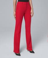 White House Black Market Women's Casual Pants Roman - Roman Red Luxe Suiting Bootcut Pants - Women