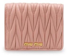 Miu Miu Matelasse Leather Bi-Fold Wallet