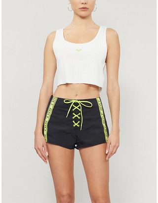Roxy Sister Collection Hailey Bieber x Kelia Moniz Summer Feeling cotton-jersey cropped top