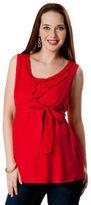 Motherhood Sleeveless Tie Detail Maternity Blouse