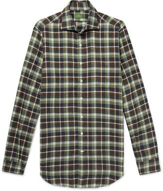 Sid Mashburn Slim-Fit Checked Cotton-Flannel Shirt