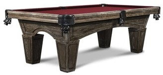 Nixon 8' Slate Pool Table With Professional Installation Included Billiards Felt Color: Burgundy