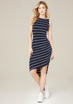 Bebe Striped Asymmetric Dress