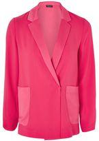 Topshop Satin pocket blazer jacket