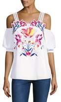 Tanya Taylor Marja Floral Cutwork Top