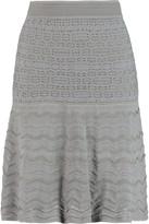 M Missoni Paneled stretch-jersey mini skirt