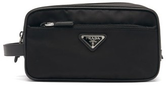 Prada Triangle Logo-plaque Nylon Wash Bag - Black