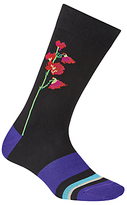 Paul Smith Floral Socks, One Size, Black