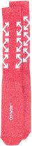 Off-White arrows socks - women - Cotton/Nylon/Polyester/Spandex/Elastane - One Size