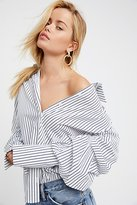 Style Mafia Stripe Off-The-Shoulder Top by at Free People