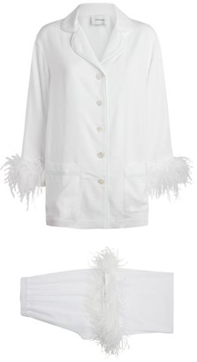 Sleeper Double Feather-Trimmed Party Pyjama Set