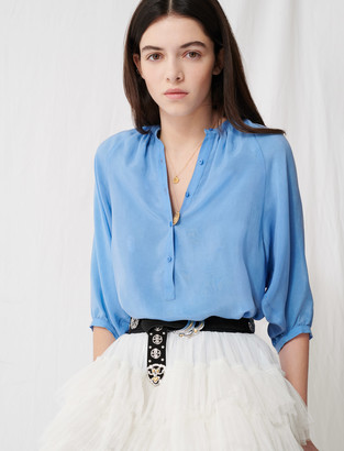 Maje Buttoned blouse with shirring