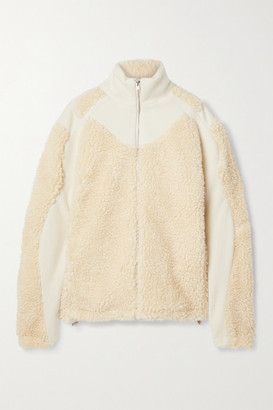 GmbH Ercan Wool-blend Felt And Faux Shearling Jacket - Off-white