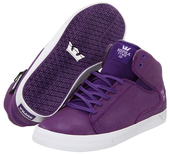 Supra TK Society Mid (Purple Waxed Suede) - Footwear