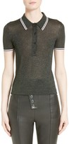 Alexander Wang Women's Metallic Knit Polo