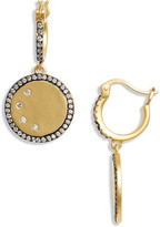 Freida Rothman Disc Charm Drop Earrings