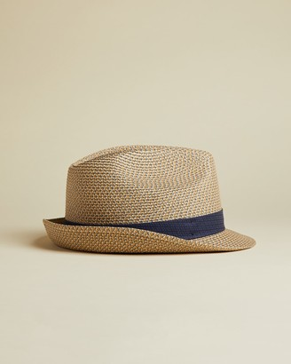 Ted Baker WARMUP Straw trilby hat