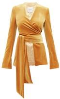 Galvan Winter Sun Velvet Wrap Jacket - Womens - Dark Yellow