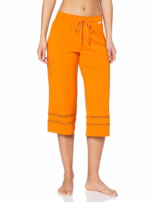 Skiny Women's Damen Pyjama Hose 3/4 Lang Earth Sleep Bottoms