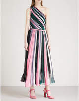 Missoni Asymmetric metallic-knit dress