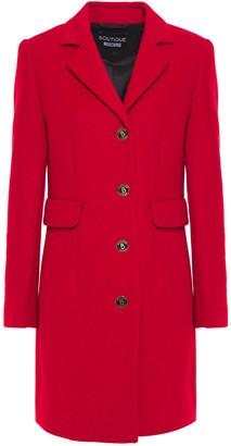 Boutique Moschino Logo-embellished Brushed Wool-blend Coat