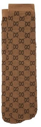 Gucci GG-jacquard Socks - Brown Multi