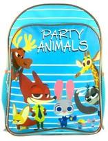 """Disney 16"""" Zootopia Hooded Kids Backpack - Blue"""