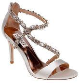 Badgley Mischka Caress Embellished Wrap Sandals