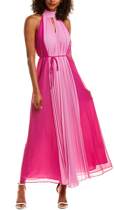Maggy London Pleated Maxi Dress