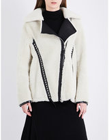 Belstaff Ladies Black Classic Elmington Shearling Jacket