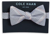 Cole Haan Silk and Cotton Plaid Bow Tie
