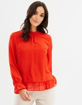 Dorothy Perkins Gathered LS Top