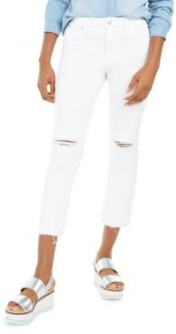 Vigoss Jeans Ripped Straight-Leg Jeans