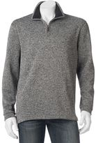 Haggar Men's Classic-Fit Quarter-Zip Fleece Sweater Pullover