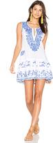 Juliet Dunn Shift Beach Dress in White