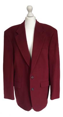 Pierre Cardin Burgundy Wool Coats