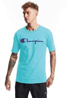 Champion Heritage Embroidered Short Sleeve T-Shirt - Blue Horizon