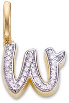 Monica Vinader Diamond Alphabet Pendant W