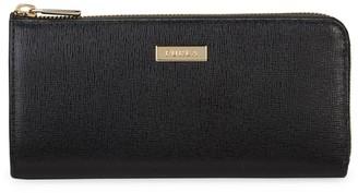 Furla Textured Leather Zip-Around Wallet