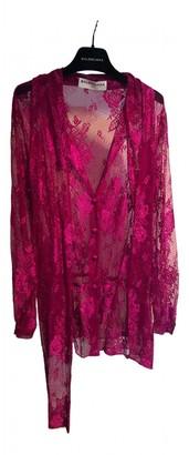 Balenciaga Pink Lace Tops