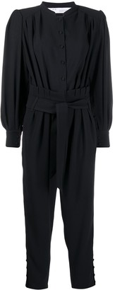 IRO Belted Long-Sleeve Jumpsuit