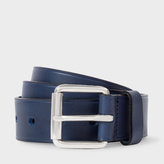 Paul Smith Men's Navy Punched Hole Leather Belt