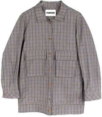 Fanfare Label Ethically Made Check Utility Suit With Skinny Trousers