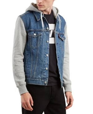 Levi's Men's Hybrid Hooded Trucker Jacket