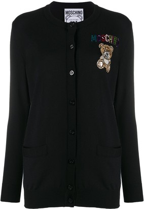 Moschino Embellished Teddy Cardigan