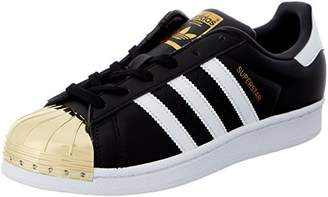 adidas Women's Superstar W Metal Toe Low-Top Sneakers, Black (Black Bb5115), 3.5 UK