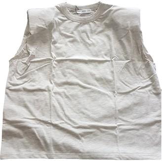 MANGO Grey Cotton Top for Women