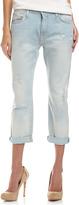 Current/Elliott The Boyfriend Parlor Destroy Cropped Jeans