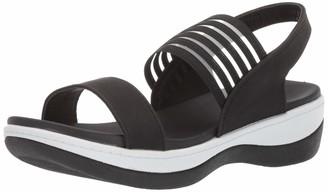 AdTec Ad Tec Women's Easy Slip on Flip Flops with Heel Strap (Black Numeric_7)