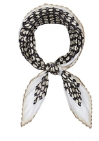 Vince Camuto Medallion-print Pleated Scarf